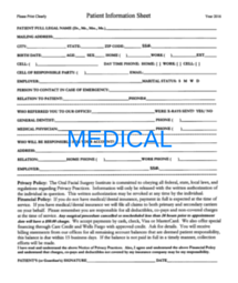 Medical patient form